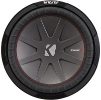 kicker cwr124 (43cwr124) 12'' compr car subwoofer