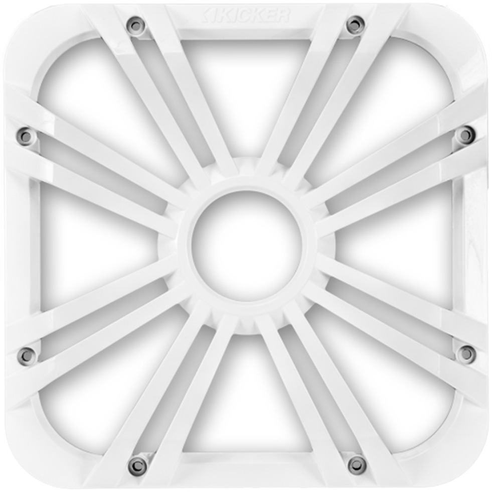 """KICKER 11L710GLW 10/"""" SOLO-BARIC L7 SQUARE SUBWOOFER GRILLE//GRILL LED WHITE"""