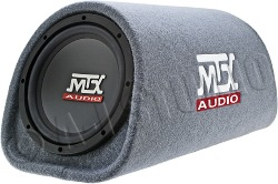 "mtx rt8pt 8"" powered subwoofer tube"